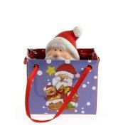 Mini Gift Bag Babbo Natale (7 cm) - Ceramica
