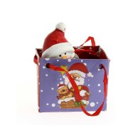 Mini Gift Bag Pupazzo di Neve (7 cm) - Ceramica