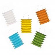 5 mini lanterne (colori a scelta)