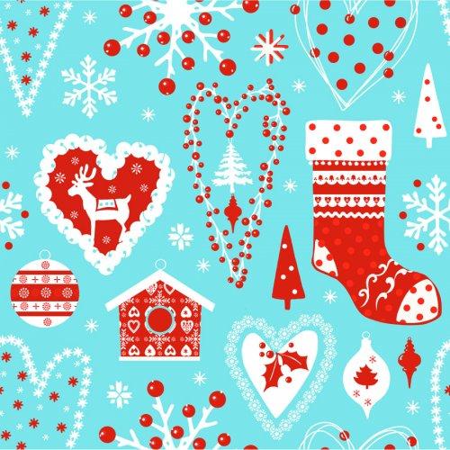 20 Tovaglioli Natale Blu