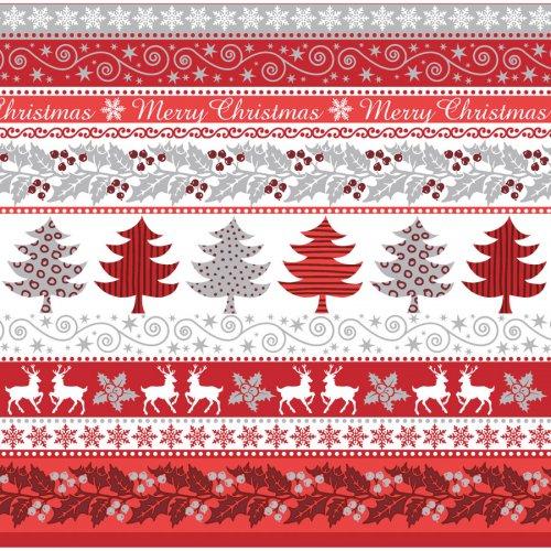 20 Tovaglioli natalizi Argento/Rosso