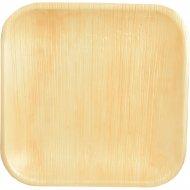 25 Piattini quadrati (18 cm) - Foglia di palma