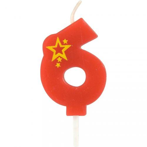 Piccola candela popstar numero 6