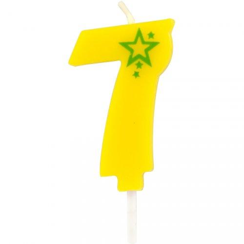 Piccola candela popstar numero 7