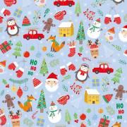 20 Tovaglioli - Babbo Natale e i suoi Amici