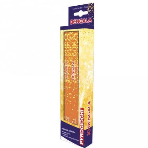 10 fuochi  Bengala Stelle d oro