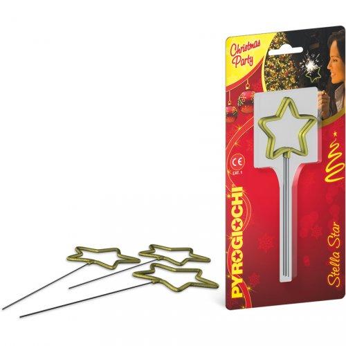 4 candele magiche Stella d oro
