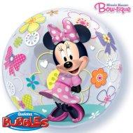 Palloncino Bubble piatto Minnie Flowers