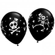 Lotto di 25 Palloncini neri halloween scheletro danzante