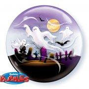 Palloncino Bubble piatto Halloween Fantasma
