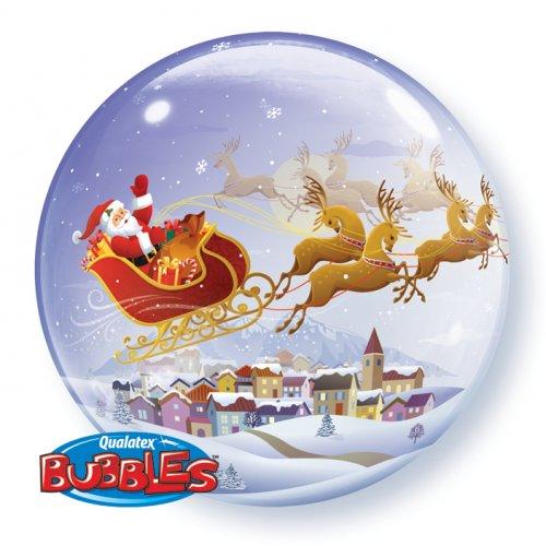 Palloncino Bubble piatto Babbo Natale