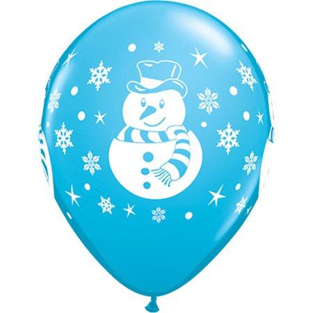Lotto di 6 palloncini Natale colorati