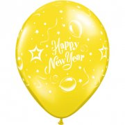 Lotto di 25 Palloncini Happy New Year