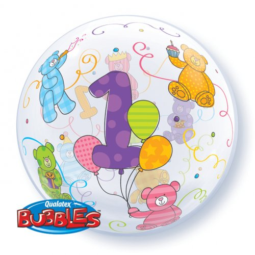 Palloncino Bubble piatto 1 Anno