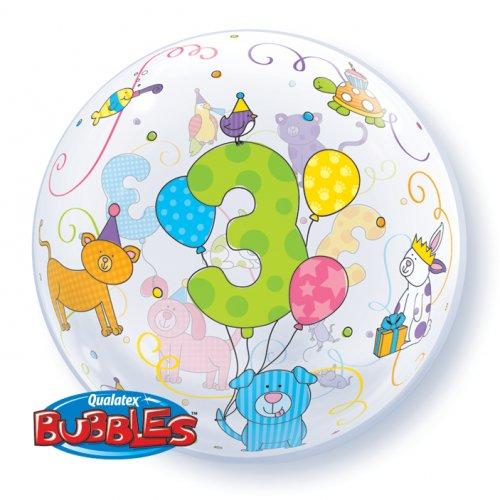 Palloncino Bubble piatto 3 Anni