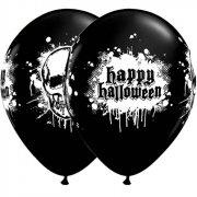 Lotto di 6 palloncini neri Happy Halloween
