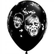 Lotto di 6 palloncini neri Zombie