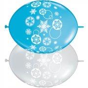 Ghirlanda 50 Palloncini Fiocchi di Neve