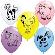 25 Palloncini Animali della fattoria