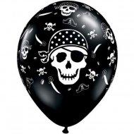 6 Palloncini Teschi Pirata