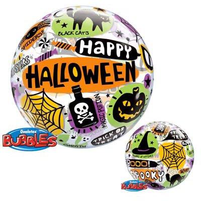 Palloncino Bubble piatto Happy Halloween