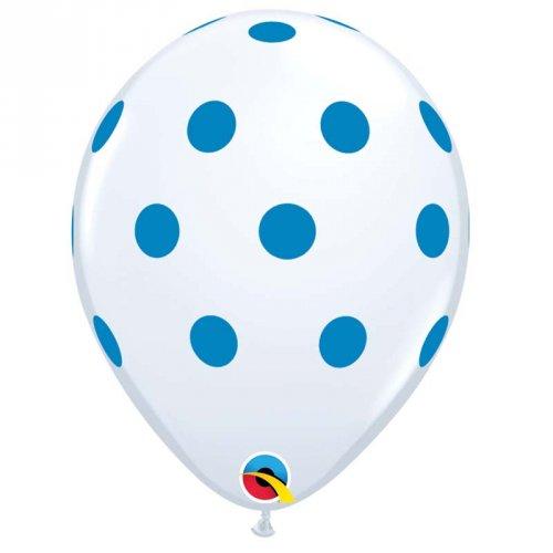 25 Palloncini a pois blu