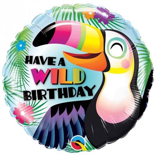 Palloncino piatto Tucano Wild Birthday