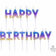 Candele Happy Birthday Raimbow sfumato
