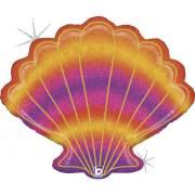 Palloncino gigante conchiglia olografica glitterata - 76 cm