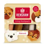 Confezione da 5 pasta di zucchero in colori naturali Renshaw