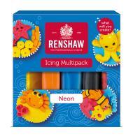 Confezione da 5 pasta di zucchero in colori neon Renshaw