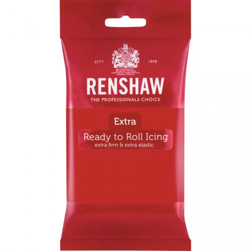 Pasta di zucchero extra Renshaw rosso 250g