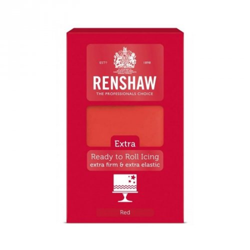 Pasta di zucchero extra Renshaw rosso (1 kg)