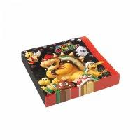 Contiene : 1 x 20 Tovaglioli Mario Party