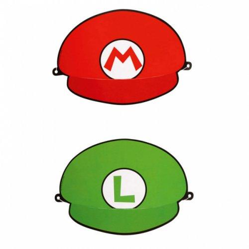 8 Cappelli finti Mario e Luigi