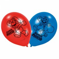 Contiene : 1 x 6 Palloncini Mario Party