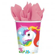 8 Bicchieri Unicorno Rainbow