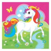 20 Tovaglioli Unicorno Rainbow