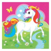 Contiene : 1 x 20 Tovaglioli Unicorno Rainbow