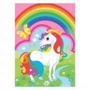 8 Sacchetti regalo Unicorno arcobaleno