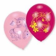 6 Palloncini Unicorno rosa/fucsia/blu