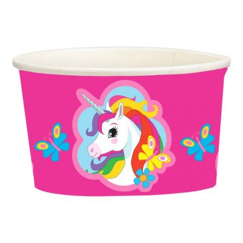 8 barattoli per caramelle Unicorno arcobaleno