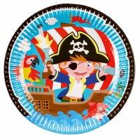 Contiene : 1 x 8 Piatti Il Piccolo Pirata e i suoi amici