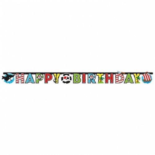 Ghirlanda Happy Birthday Il piccolo pirata e i suoi amici