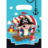 8 Sacchetti regalo Piccolo pirata e i suoi amici