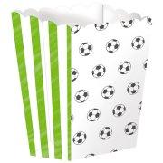 4 contenitori per popcorn Football Match