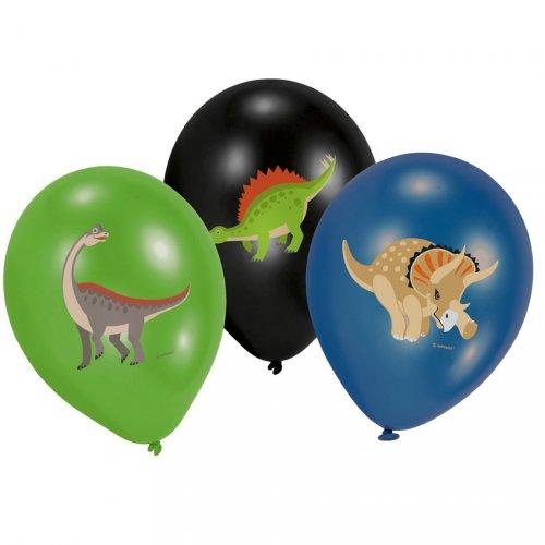6 Palloncini Happy Dino