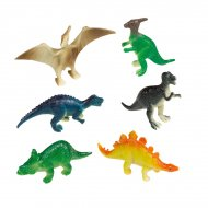 8 Happy Dino Figurine (6 cm) - Plastica