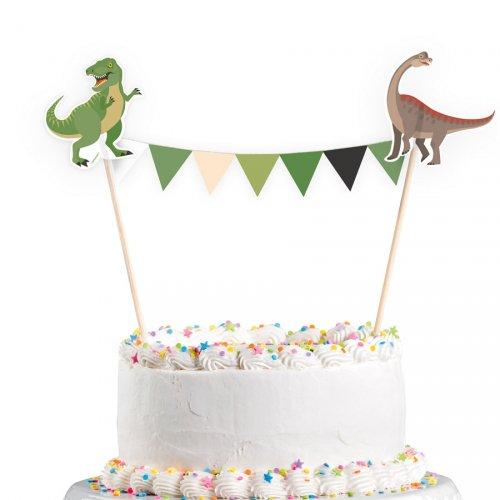 """1 Striscione decorativo per torta """"Happy Dino"""""""
