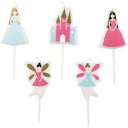 5 mini candele Principessa
